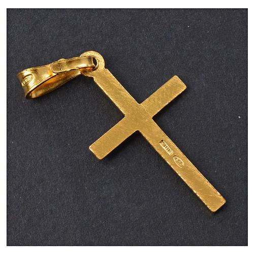 Croce dorata Arg. 925 con incrocio 2,5 x 1,5 6