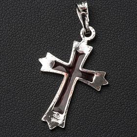 Colgante cruz en punta con esmalte s2