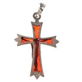 Croce Argento 800 e smalto rosso s4
