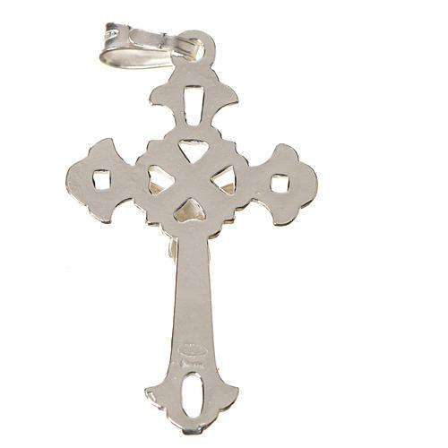 Cruz tallada de plata de 3x2cm 2
