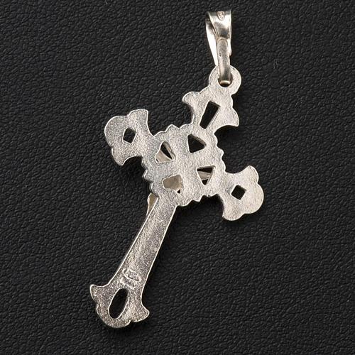 Cruz tallada de plata de 3x2cm 3