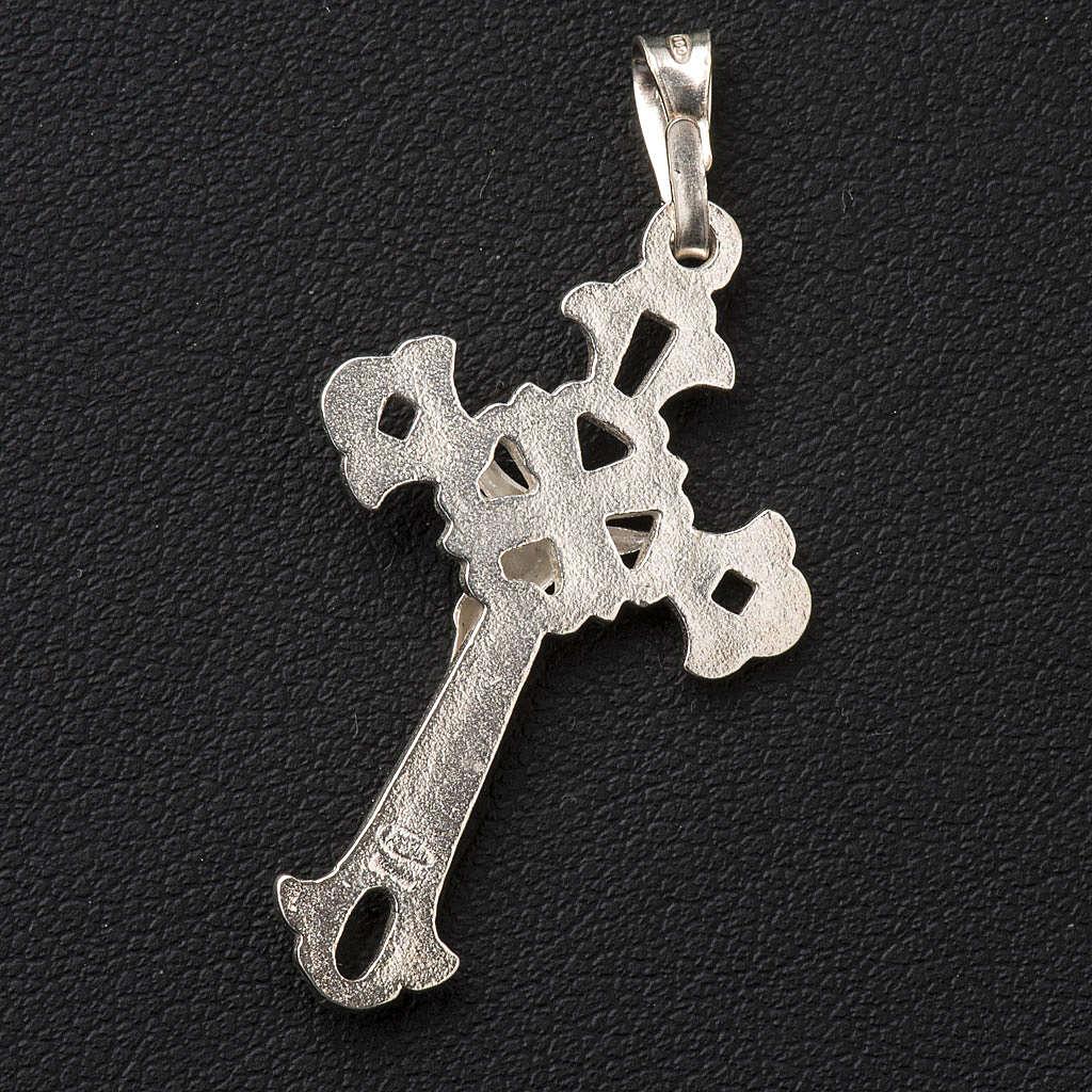 Croce argento traforata 3x2cm 4