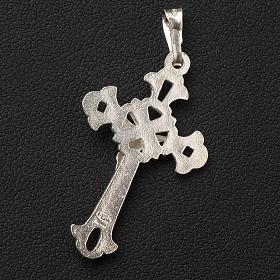 Croce argento traforata 3x2cm s3