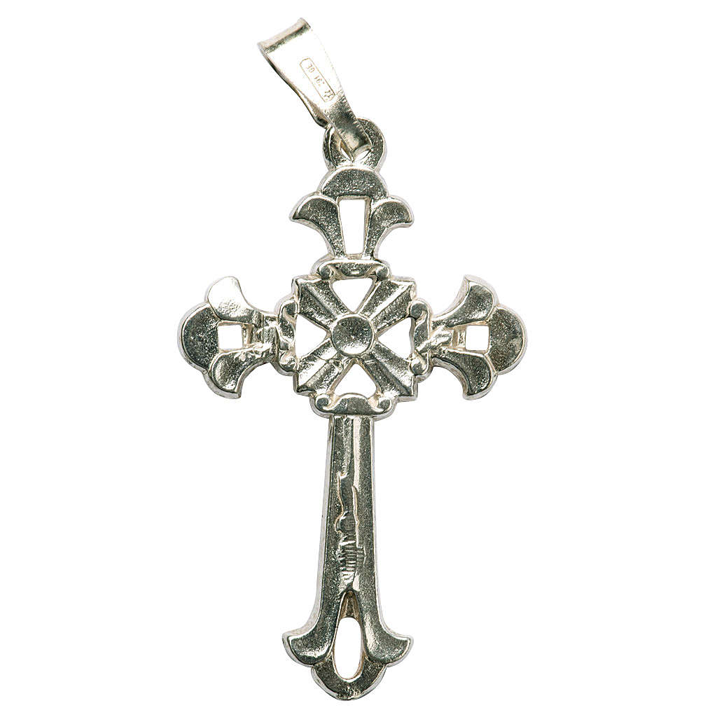Croce gotica traforata argento 925 4