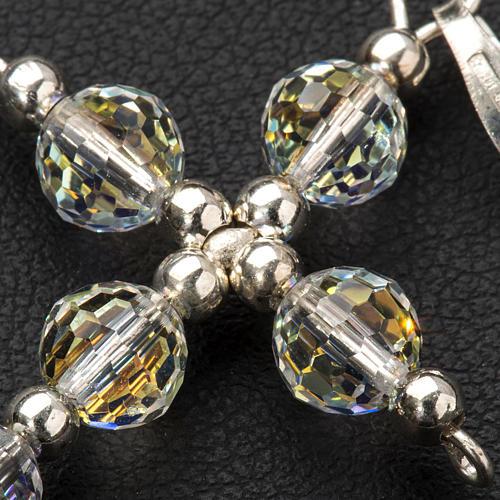 Croce argento e perle Swarovski sfaccettate 3