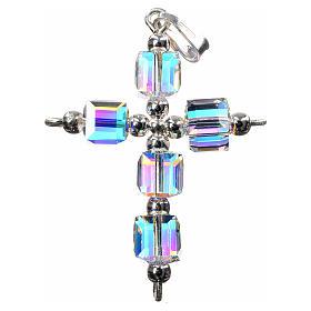 Croce Swarovski aurora boreale cubo s1