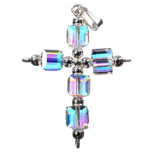 Croce Swarovski aurora boreale cubo 1
