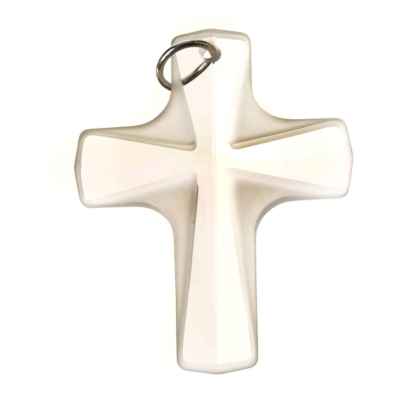 Croix cristal blanch 4x3 cm 4