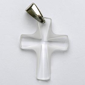 Croix cristal blanch 4x3 cm s1