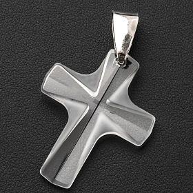 Croix cristal blanch 4x3 cm s3