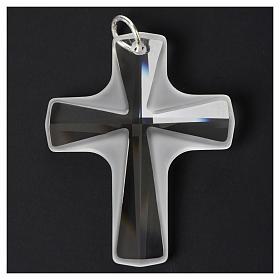 Croix cristal blanch 4x3 cm s6