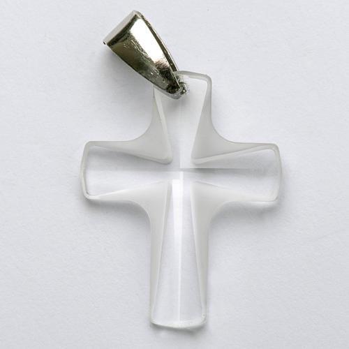 Croix cristal blanch 4x3 cm 1