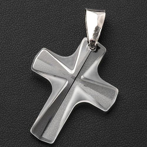 Croix cristal blanch 4x3 cm 3