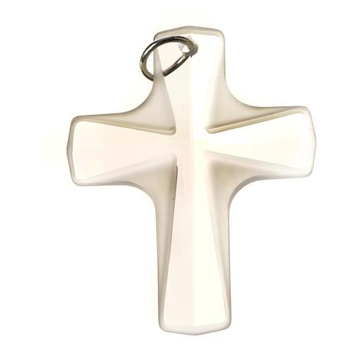Croix cristal blanch 4x3 cm 5