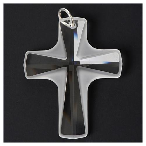 Croix cristal blanch 4x3 cm 6