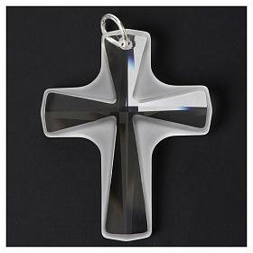 Croce cristallo bianco 4x3cm s4