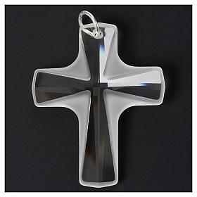 Croce cristallo bianco 4x3cm s2
