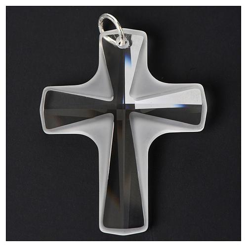 Croce cristallo bianco 4x3cm 2