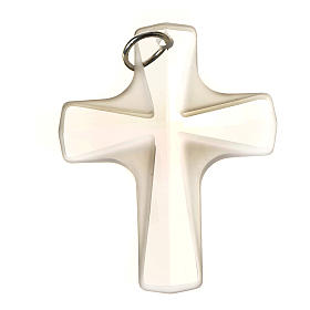 Crystal cross pendant 4x3 cm, satin and shini finishing s2