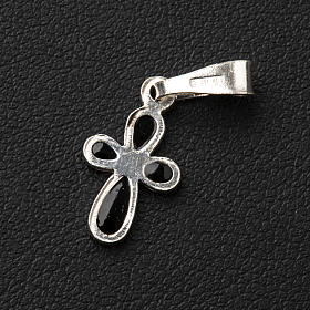 Pendant cross, rounded, in silver s3