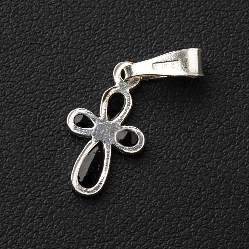 Pendant cross, rounded, in silver 3
