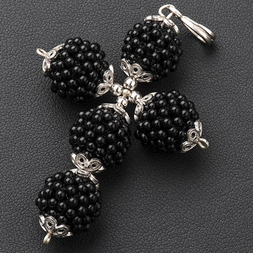 Croix onyx petites balles 1.5 cm 2