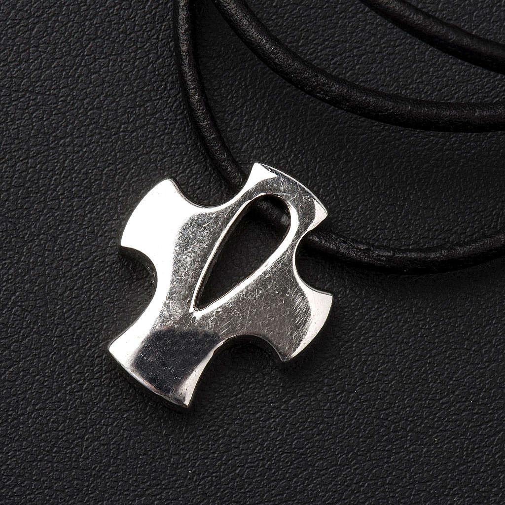 Croce stilizzata argento con intaglio 4