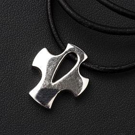 Croce stilizzata argento con intaglio s3
