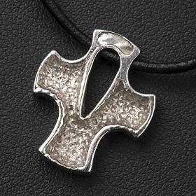 Croce stilizzata argento con intaglio s4