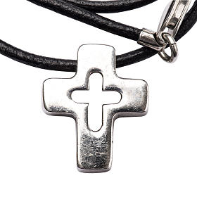 Pendant, silver cross with hole s1