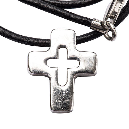 Pendant, silver cross with hole 1