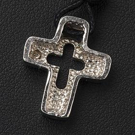 Croce argento con intaglio e zircone s4