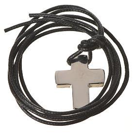 Croix classique argent avec corde s7