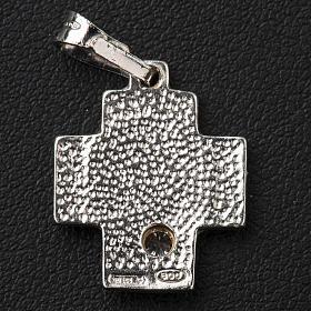 Croce argento 800 alfa omega con zircone s3