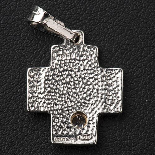 Croce argento 800 alfa omega con zircone 3
