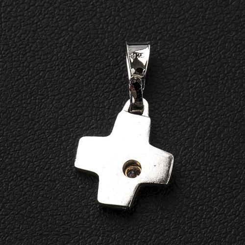 Croce argento con zircone 1 x1 cm 3