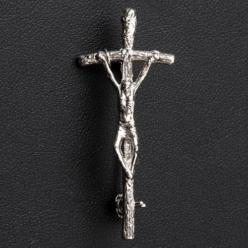 Croix clergyman Pastoral Jean Paul II argent 4x2 2