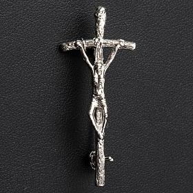 Pin Cross John Paul II Silver, 4x2cm s2