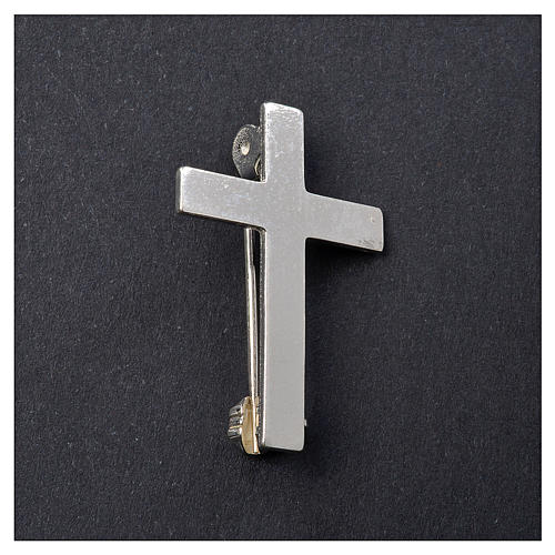 Clergyman cross pin in 925 silver 2