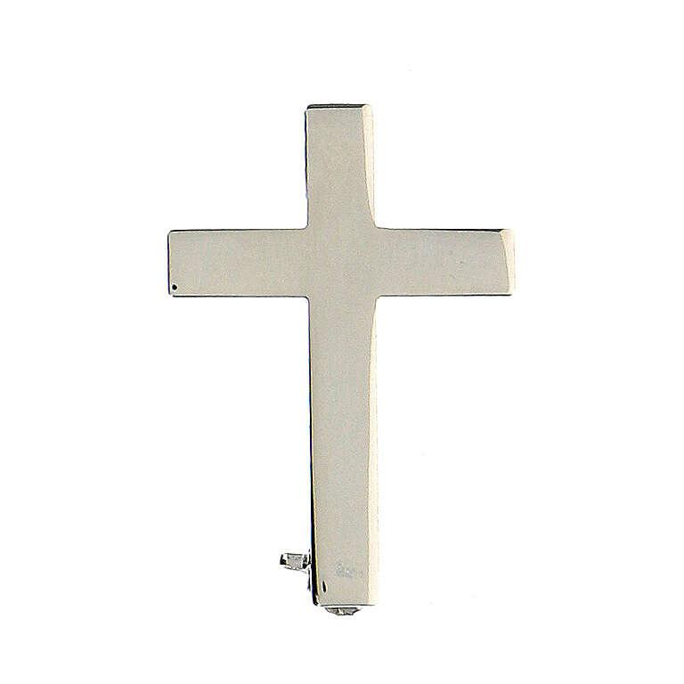 Broche Cruz Clergyman plata de ley 4