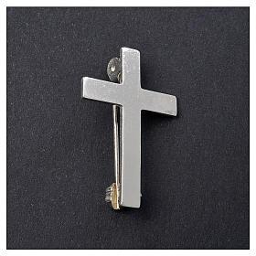 Broche Cruz Clergyman plata de ley s2