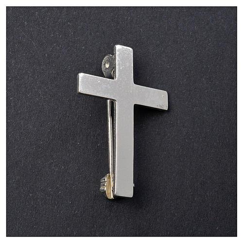 Broche Cruz Clergyman plata de ley 2