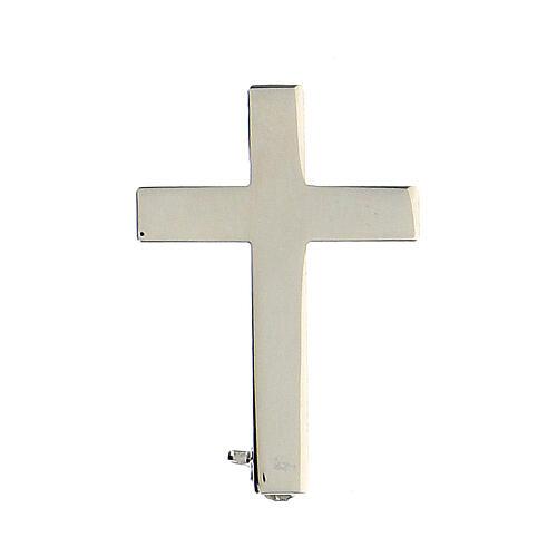 Broche Cruz Clergyman plata de ley 1