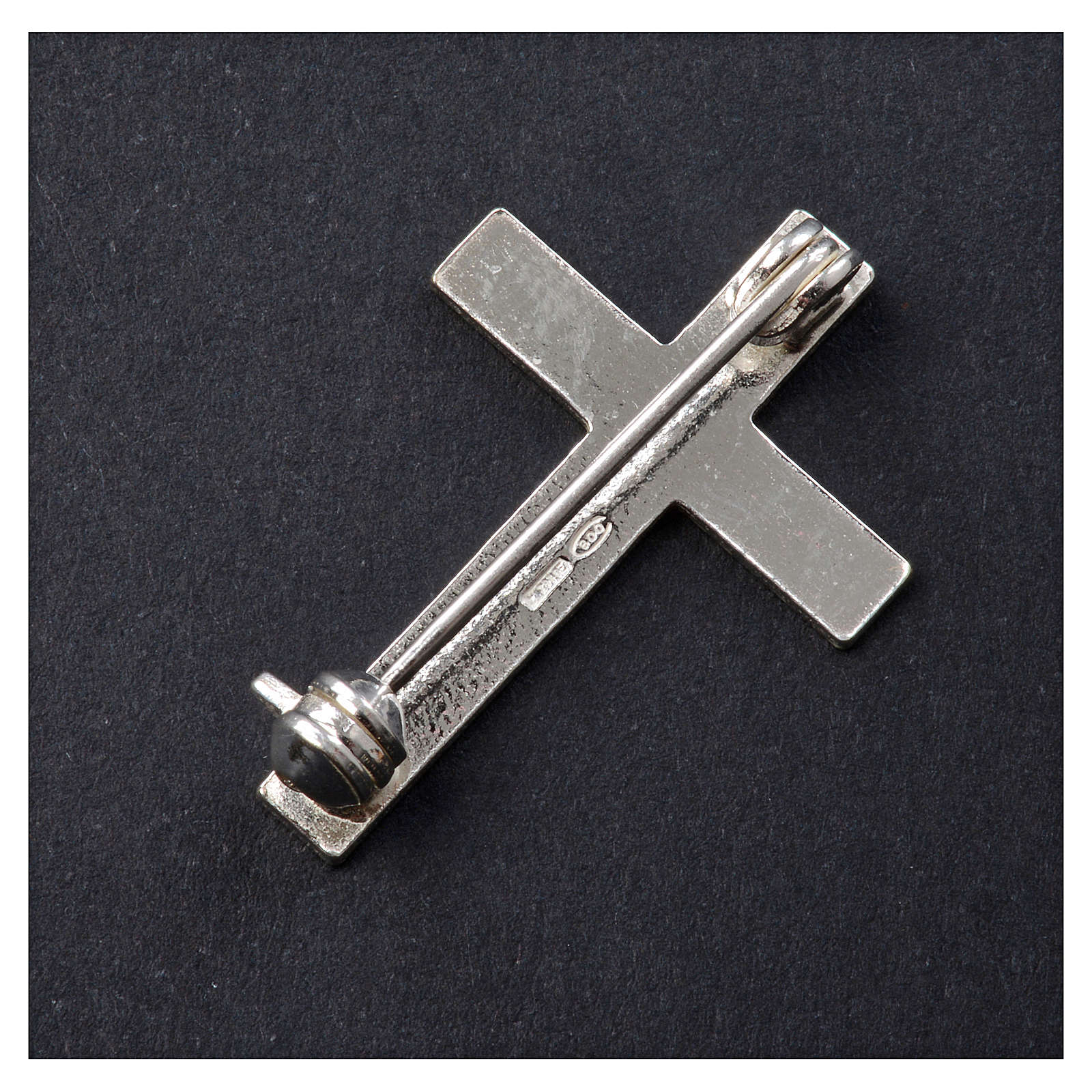 Clergyman cross pin in 925 silver 4