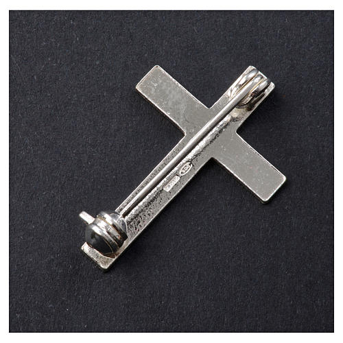 Clergyman cross pin in 925 silver 6