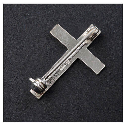 Clergyman cross pin in 925 silver 3