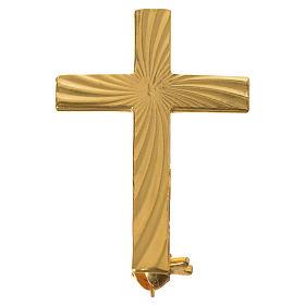 Croce clergyman dorata arg. 800 s1