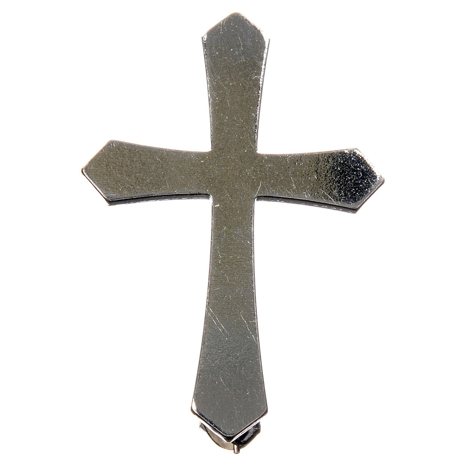 Broche Clergyman punta plata de ley 4