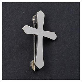 Croix de clergyman argent 925 broche s2