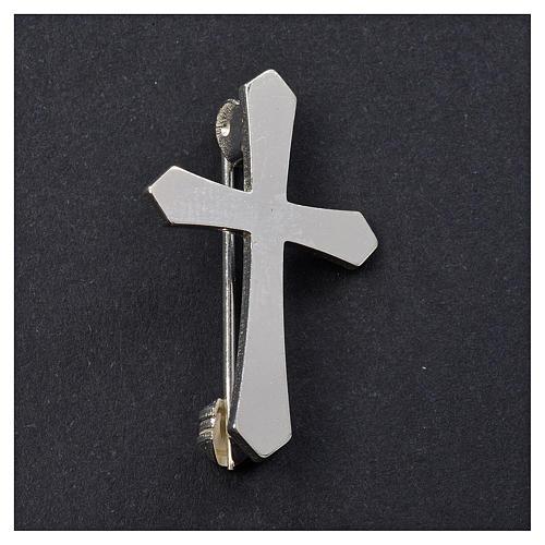 Cruz pontiaguda broche prata 925 2